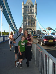At the Tower Bridge in London