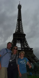 In front of the Tour Eiffel in Paris