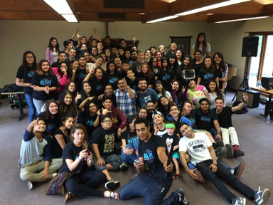 Group picture from the youth retreat