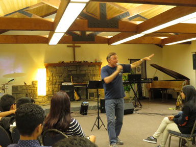 Ministering at a youth retreat