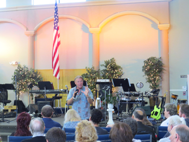 Ministering at Canyon Christian Center.