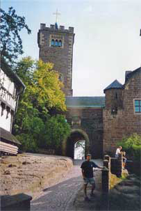 Bryan in front of Wartburg Castle